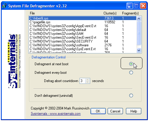 How To Defragment System Files